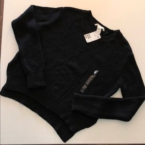 H&M Grey Cropped Chunky Sweater NWT